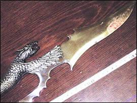 Il coltello del tentato omicidio