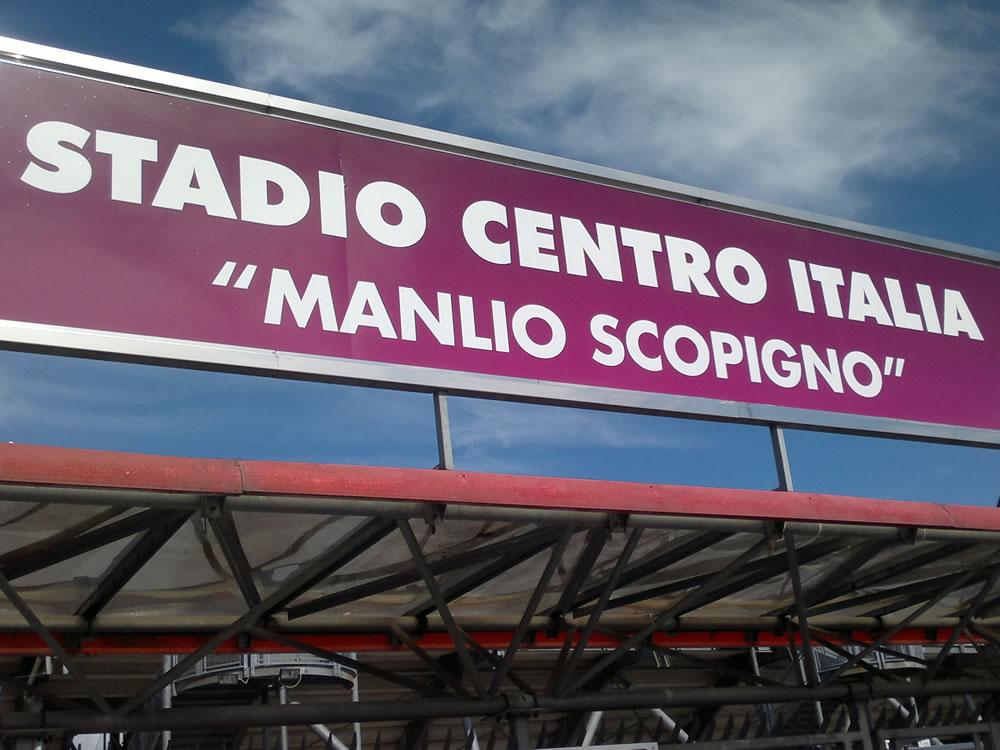 Rieti, stadio Manlio e Loris Scopigno