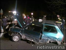Incidente lungo la superstrada