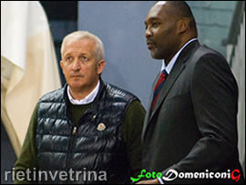 Il ds Leoncini e coach Griffin