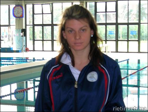 Erika De Angelis, Asd nuoto Rieti