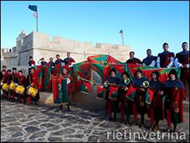 Sbandieratori di Borgo Velino in Portogallo